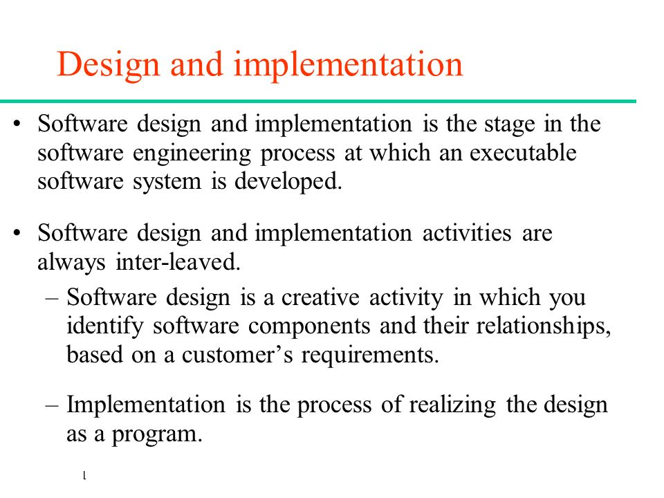 Software Engineering Lecture 8 Design And Implementation Ppt Video Online Download