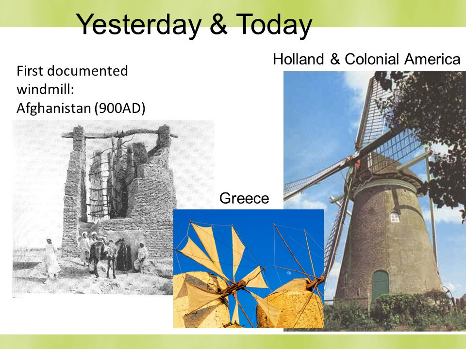 Yesterday & Today Holland & Colonial America