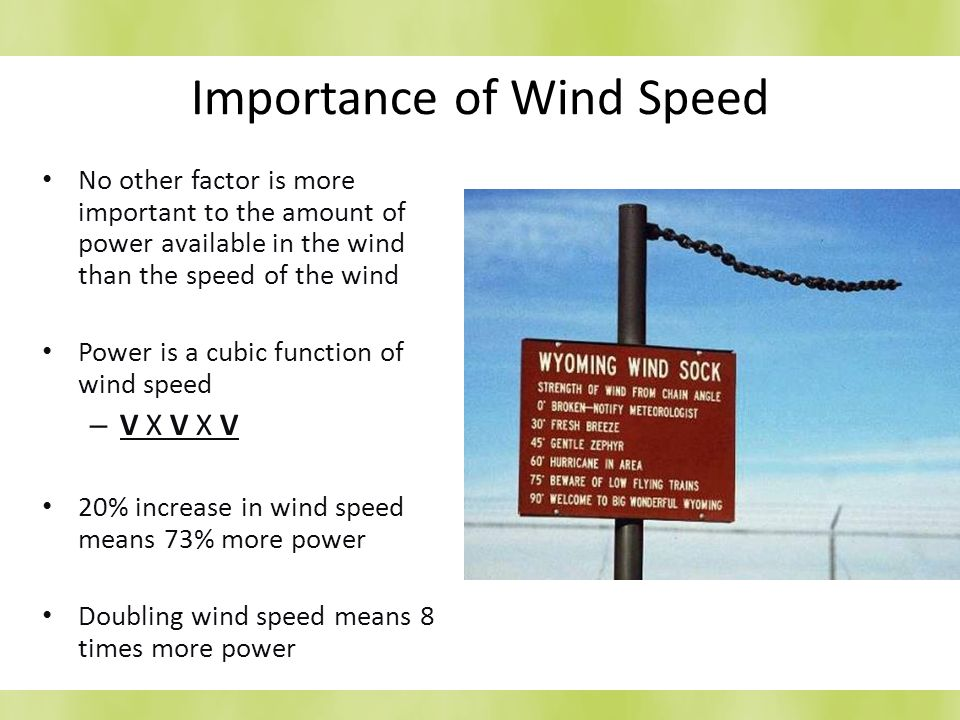 Importance of Wind Speed