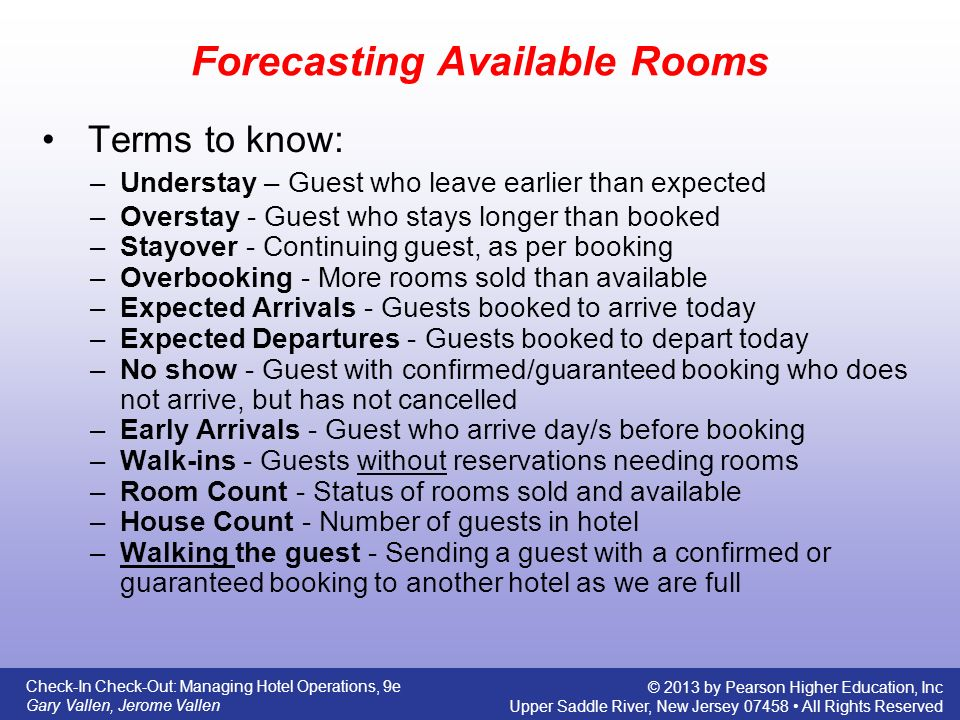 Forecasting Availability and Overbooking - ppt download