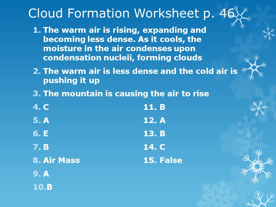 Cloud Formation Worksheet p. 46