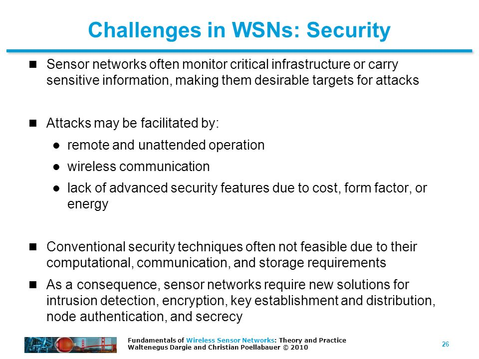 Challenges in WSNs: Security