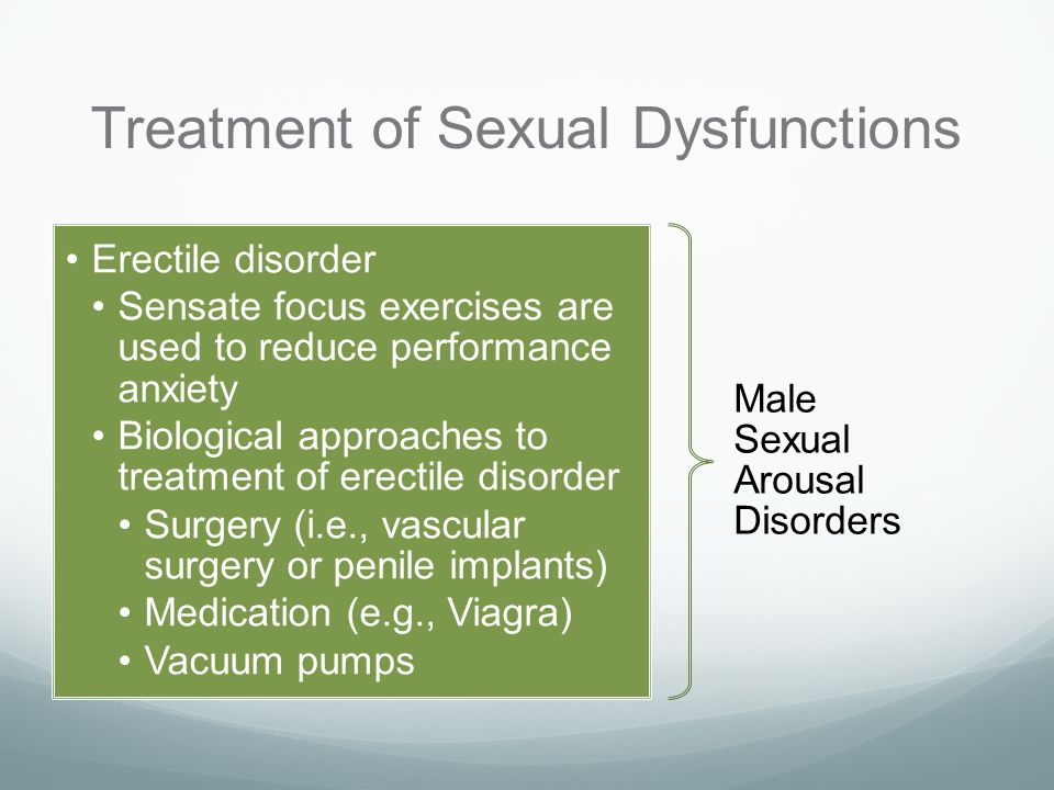 sexual anxiety treatment