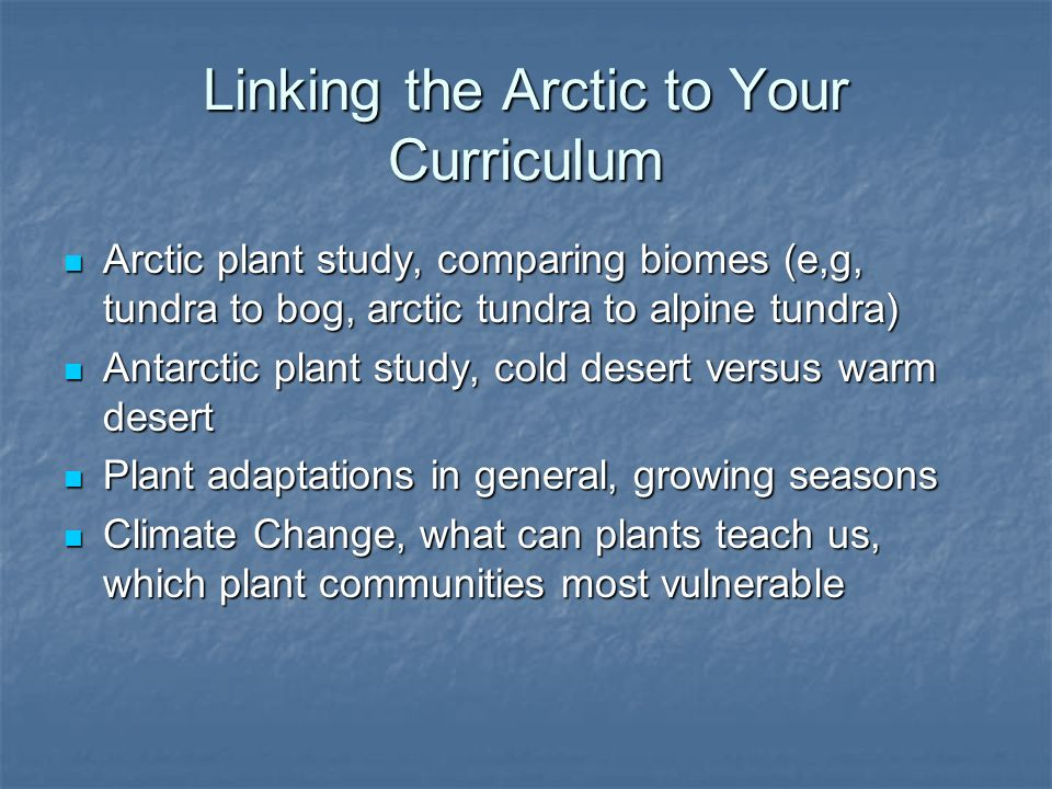 Linking the Arctic to Your Curriculum