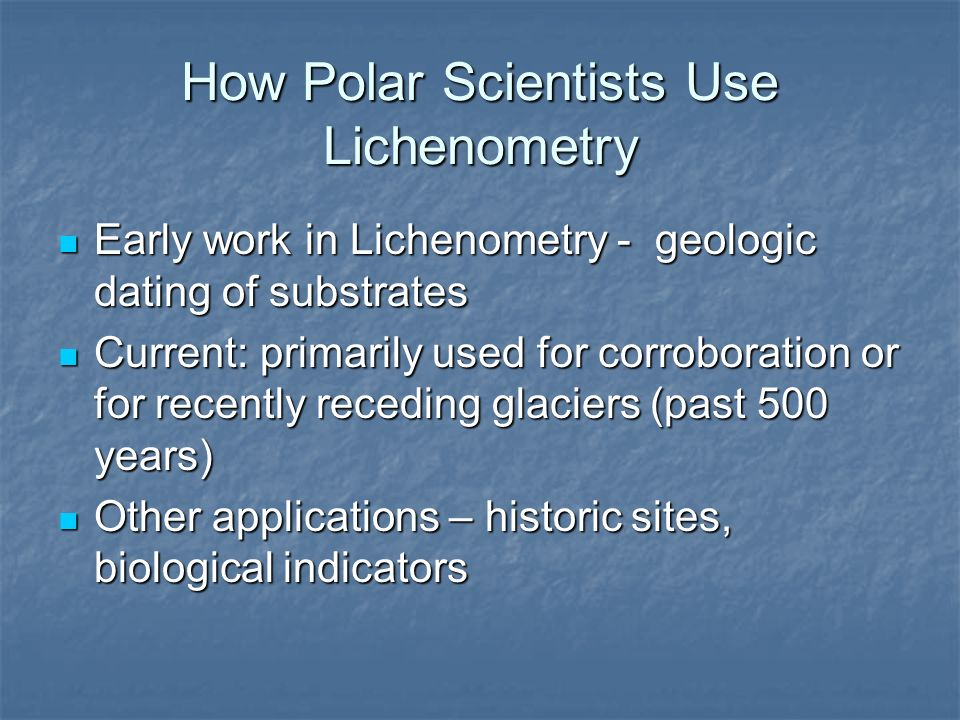 How Polar Scientists Use Lichenometry