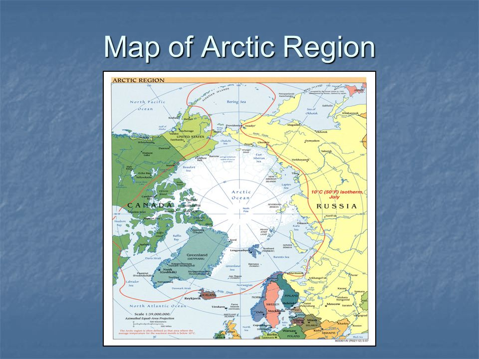 Map of Arctic Region