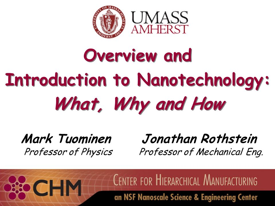 Introduction to Nanotechnology: - ppt download