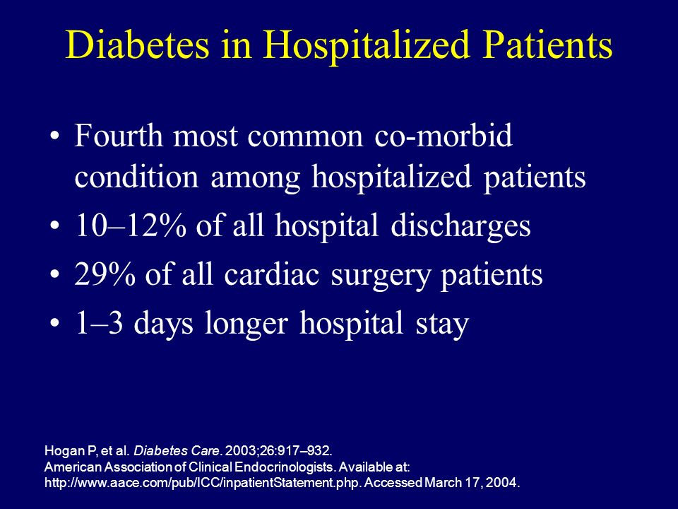 Diabetes in Hospitalized Patients