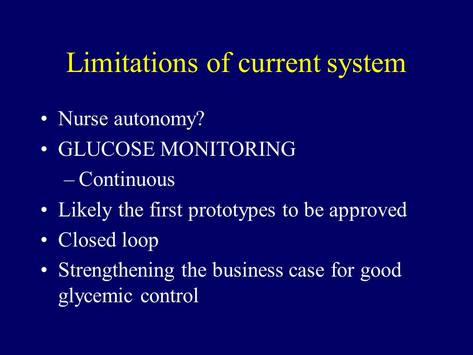 Limitations of current system