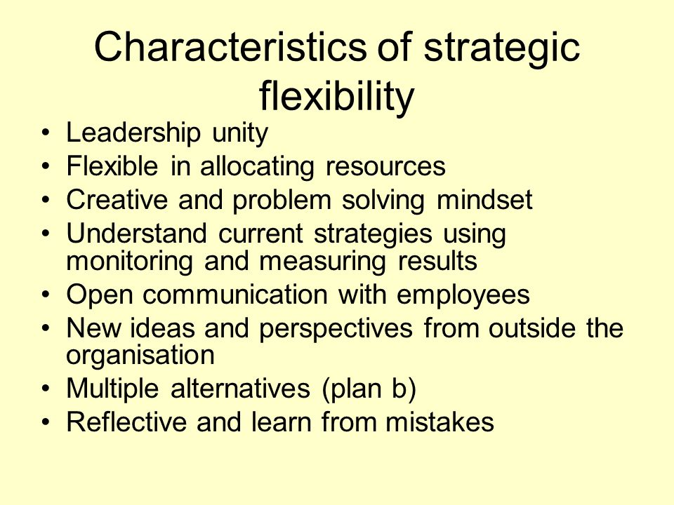 strategic flexibility in communication