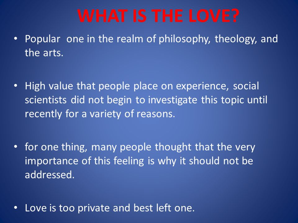 best topic about love