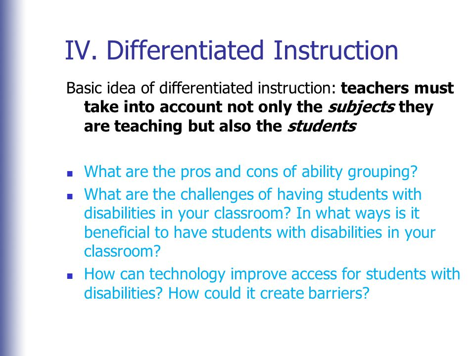 Differentiated Instruction Challenges User Guide Manual That Easy