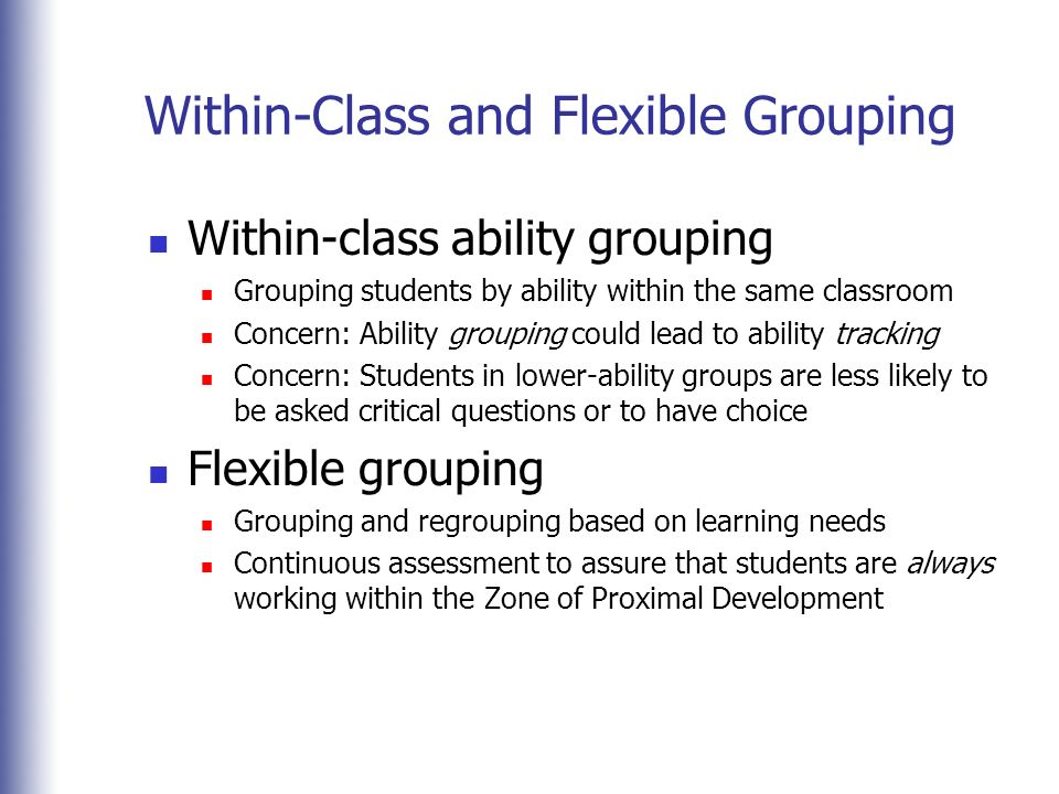 within class ability grouping