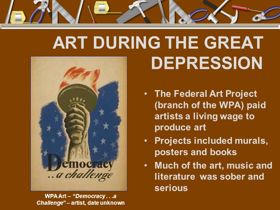ART DURING THE GREAT DEPRESSION
