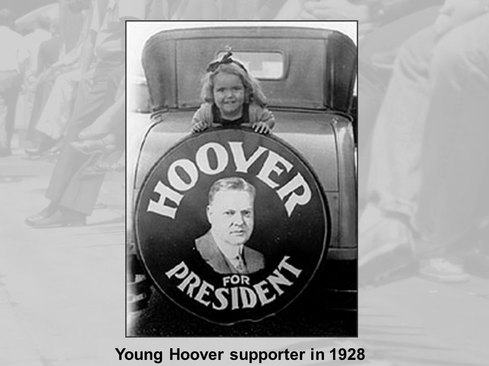 Young Hoover supporter in 1928