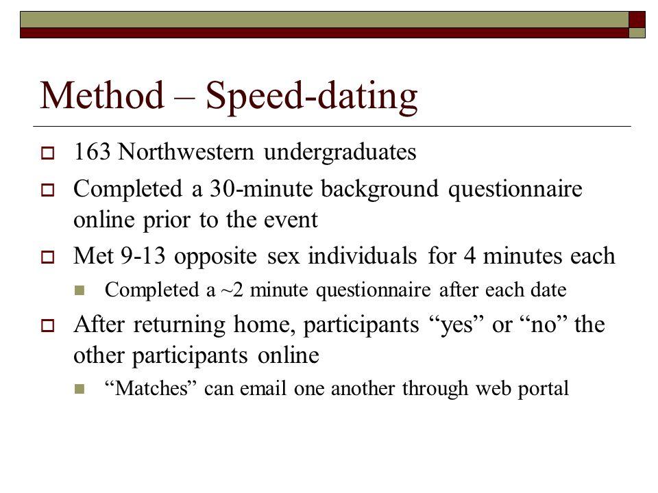 Speed dating portal