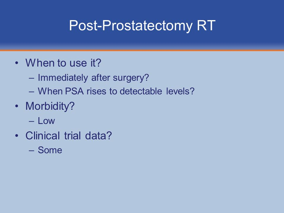 Post-Prostatectomy RT