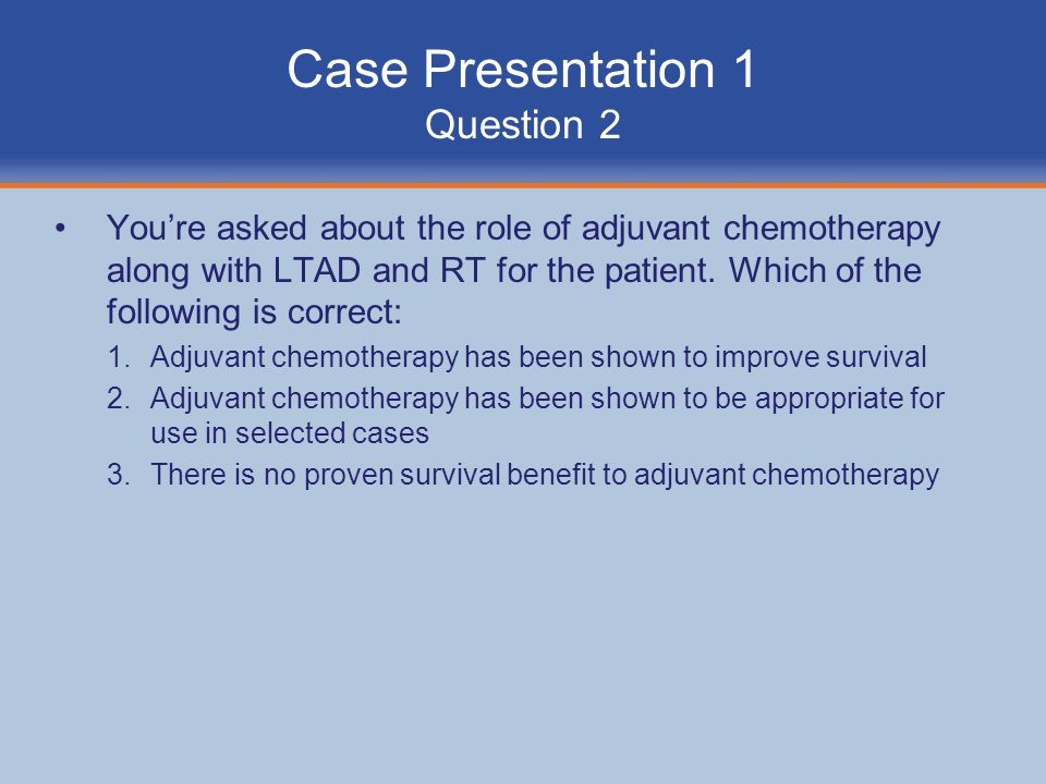 Case Presentation 1 Question 2
