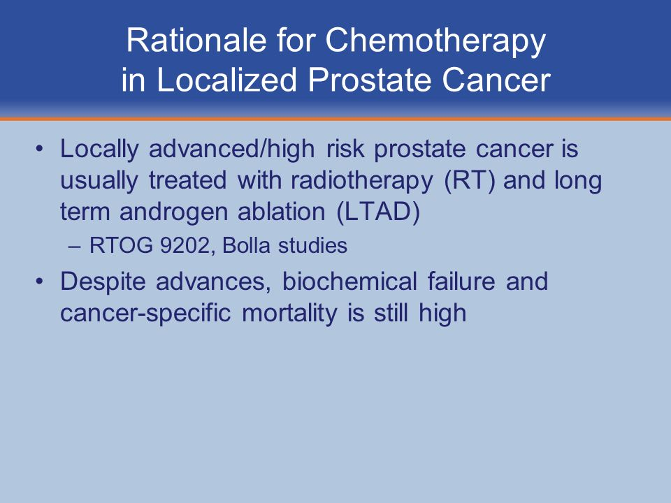 Rationale for Chemotherapy in Localized Prostate Cancer