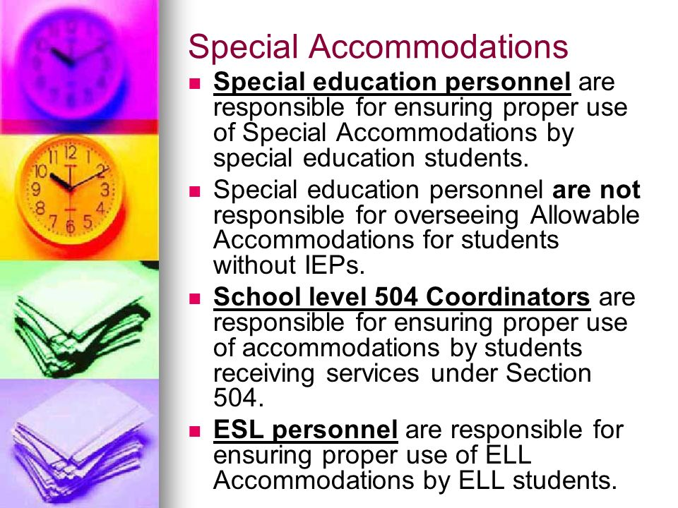 Special Education Accommodations >> Testing Accommodations Ppt Video Online Download