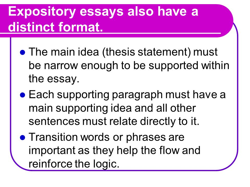 The Expository Essay Ppt Download