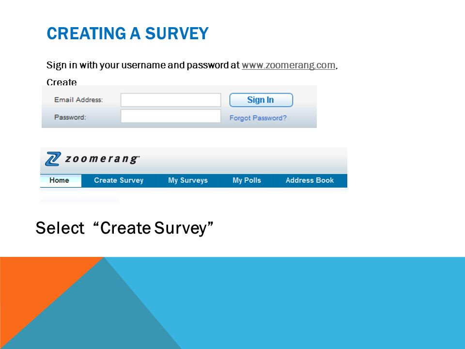 Zoomerang How to Create a Survey  - ppt video online download
