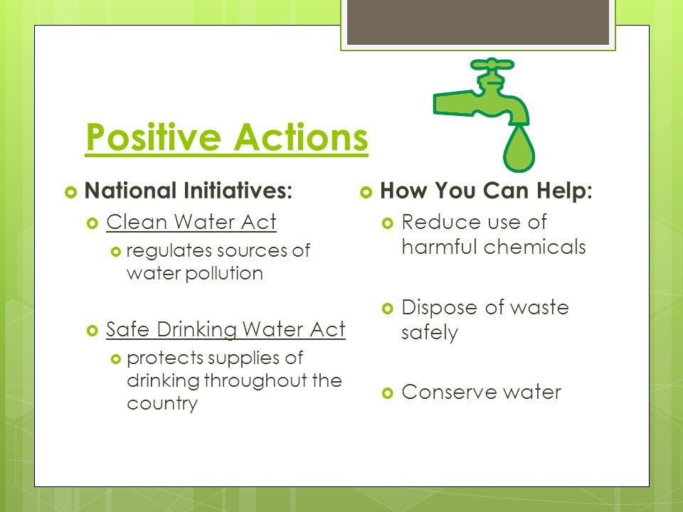 Positive Actions National Initiatives: How You Can Help: