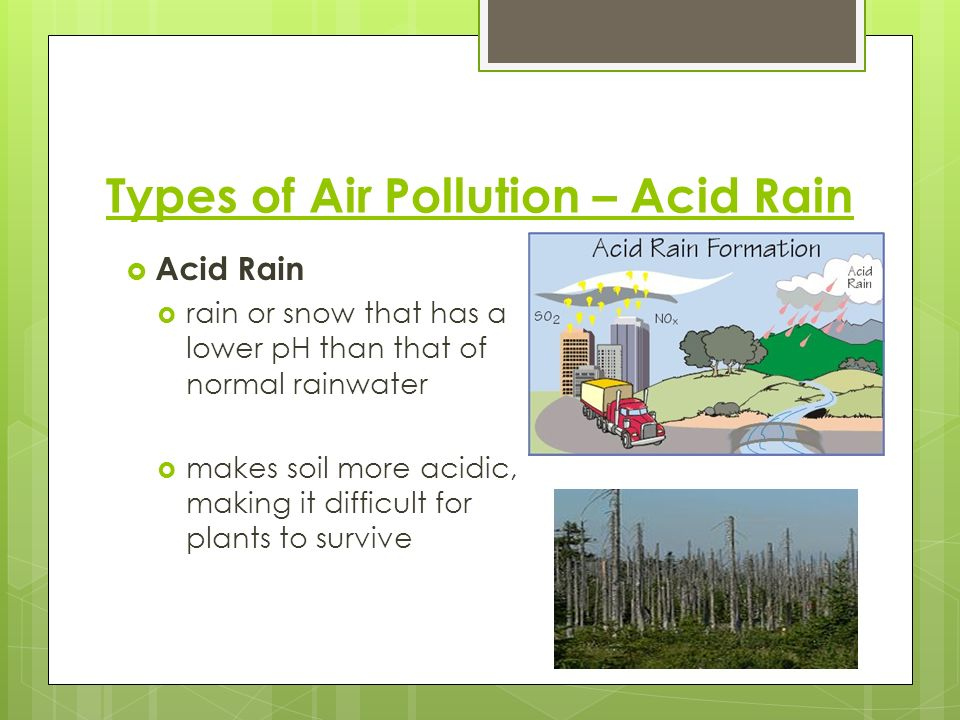 Types of Air Pollution – Acid Rain
