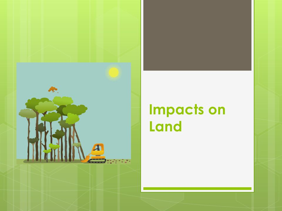 Impacts on Land
