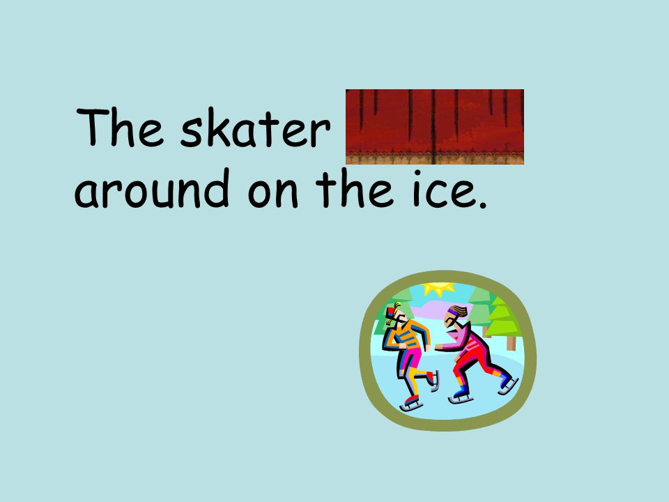 The skater whirled around on the ice.