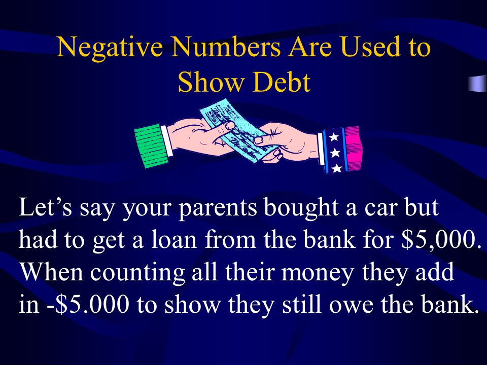 Negative Numbers Are Used to Show Debt