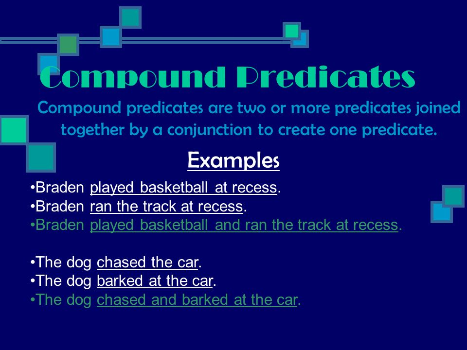 Compound Predicates Examples