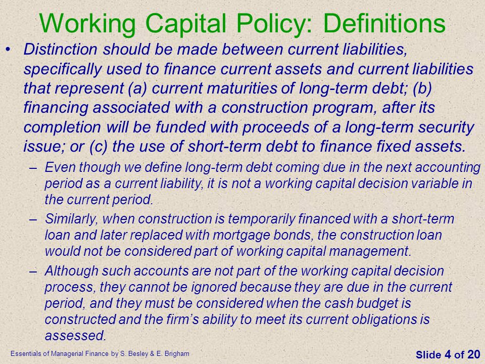 Ppt Working Capital Management By Brigham.zip