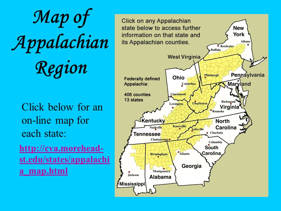 Map of Appalachian Region
