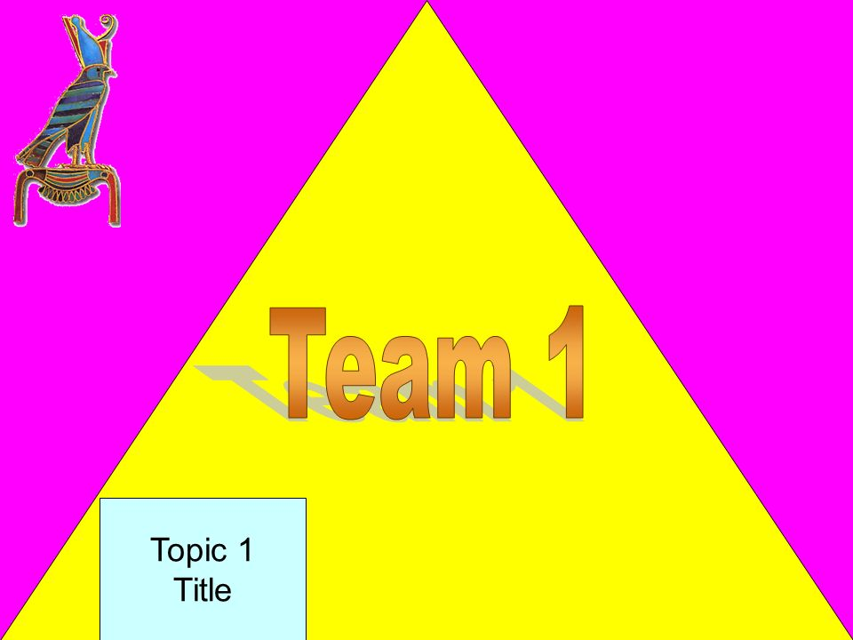 Team 1 Topic 1 Title