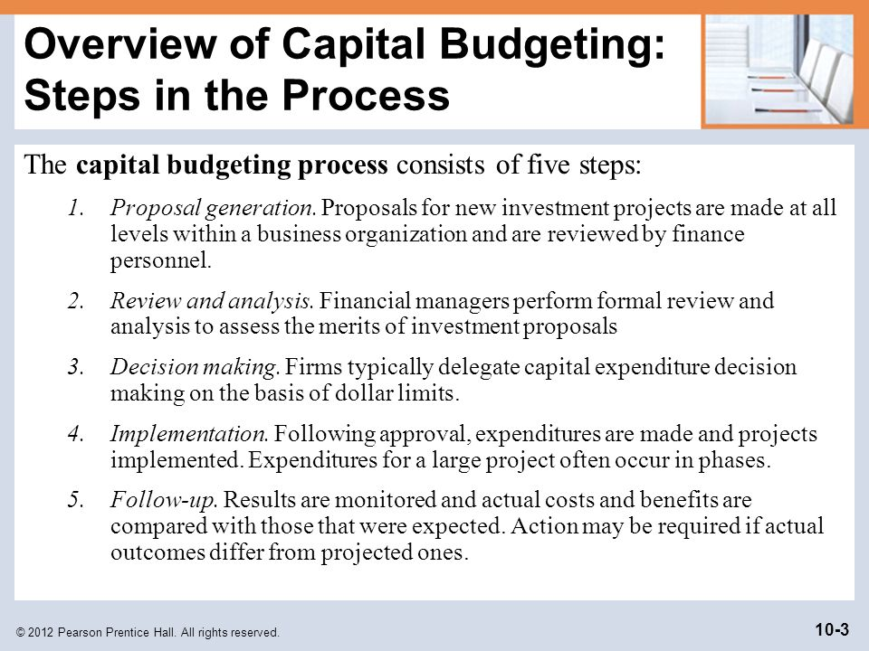 how to prepare a capital budget