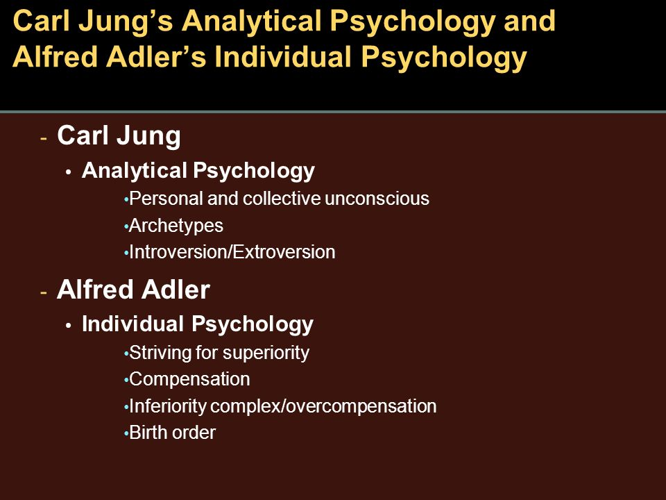analytical psychology of carl jung essay Carl jung and analytical psychology carl jung is today recognized as a revolutionary psychologist who divided the world of psychoanalysis introduced by sigmund freud to understand his theories and approach, it is helpful to trace their development through the course of his life.