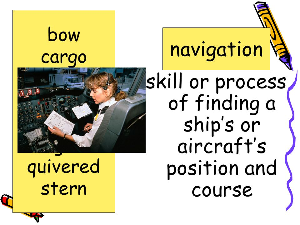 skill or process of finding a ship's or aircraft's position and course