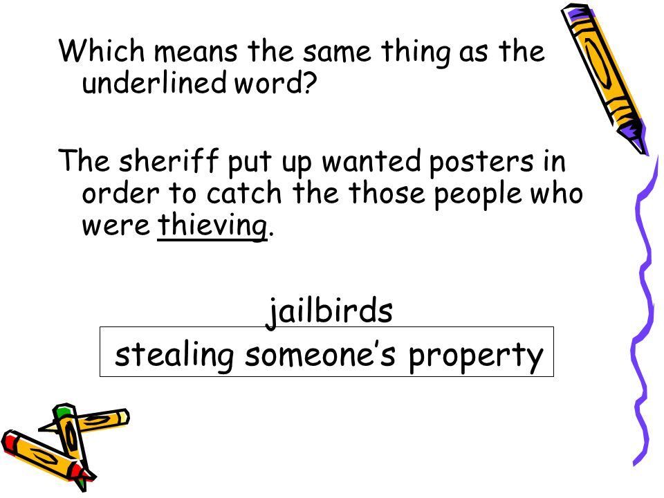 stealing someone's property