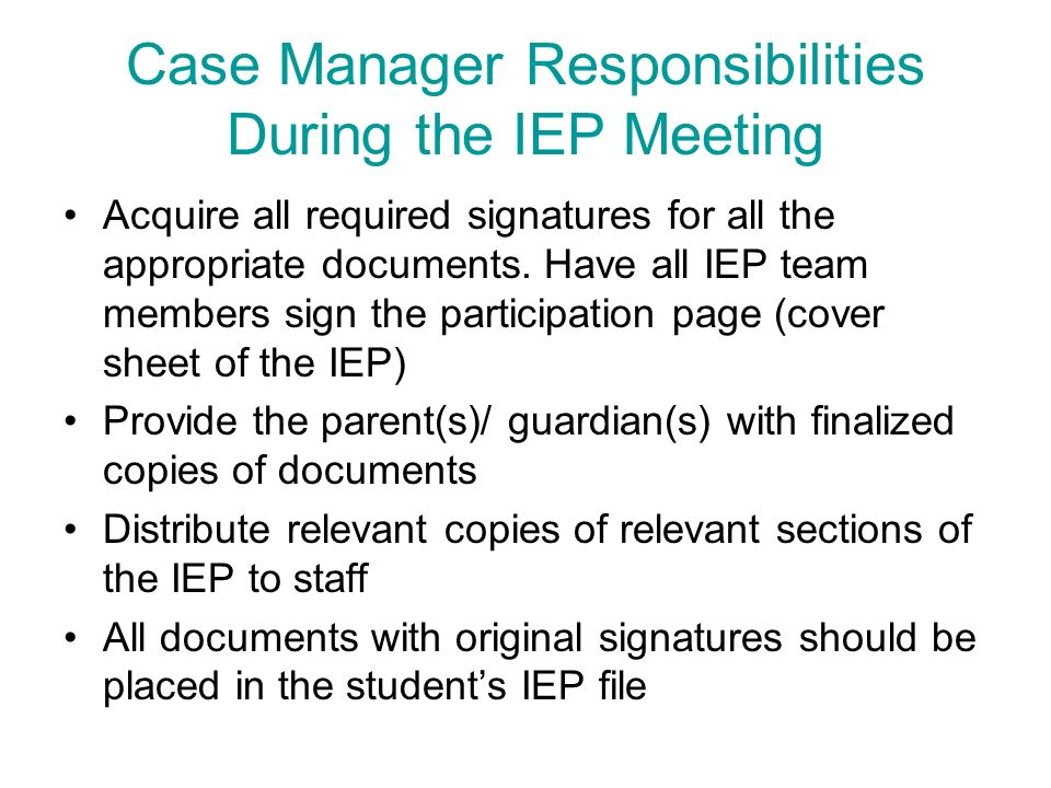To My Childs Iep Case Manager >> The Office Of Special Education And Supports Ppt Download