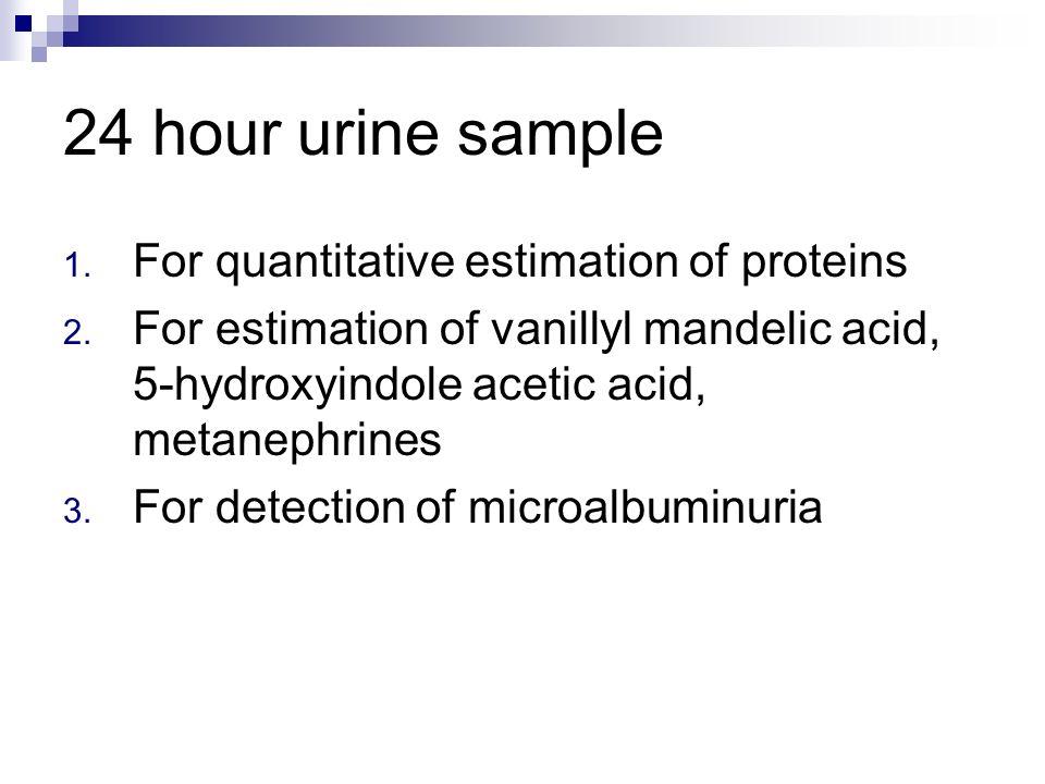 Hour Urine Sample Room Temperature