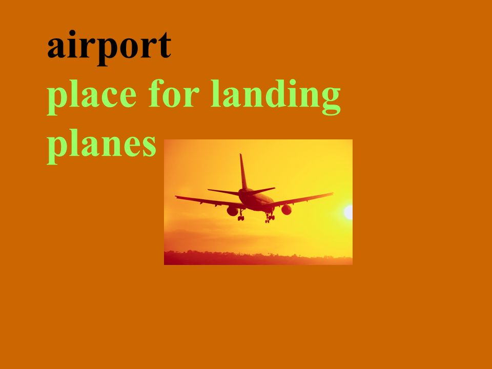 airport place for landing planes