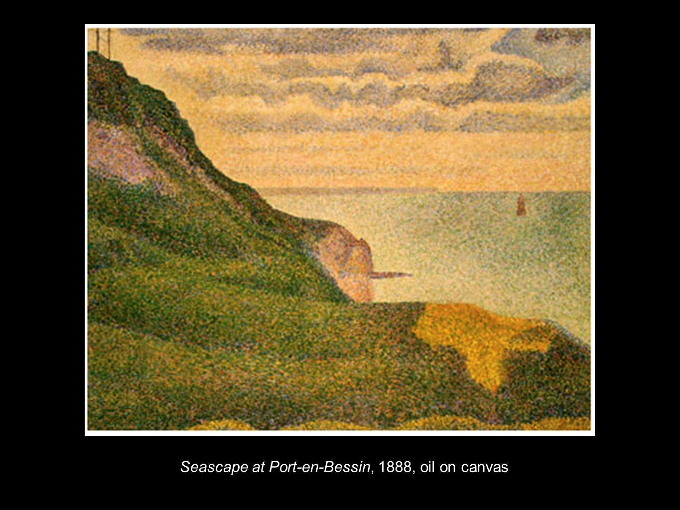 Seascape at Port-en-Bessin, 1888, oil on canvas