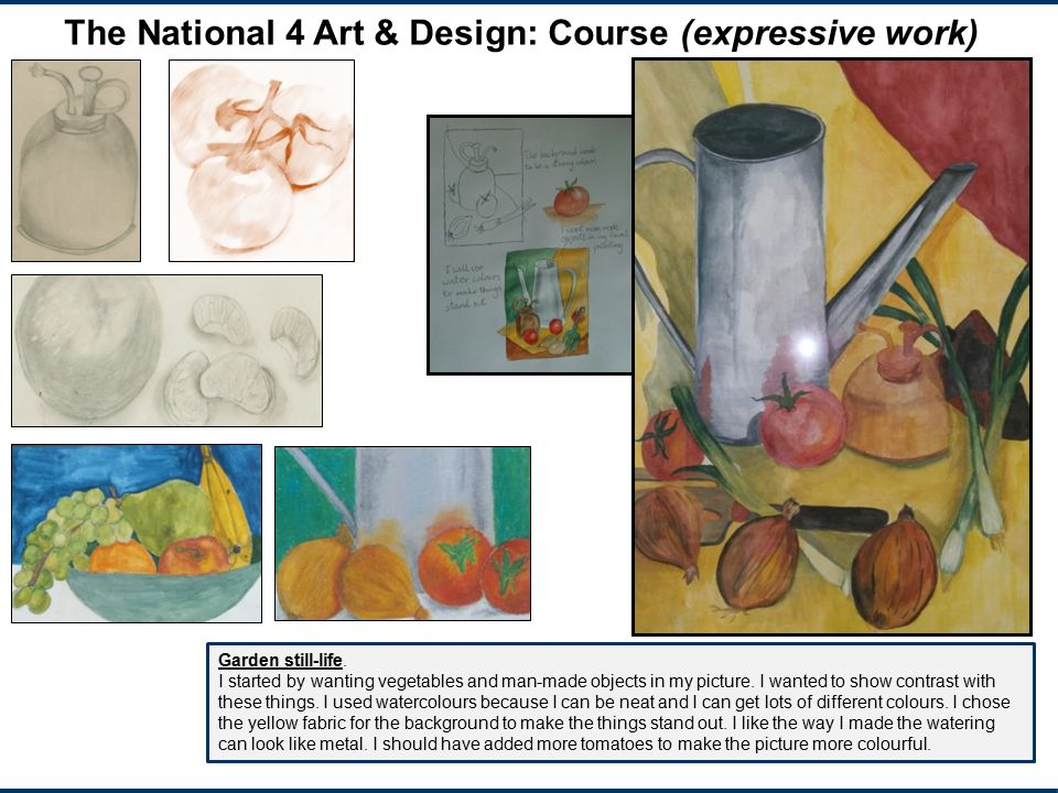 The National 4 Art & Design: Course (expressive work)