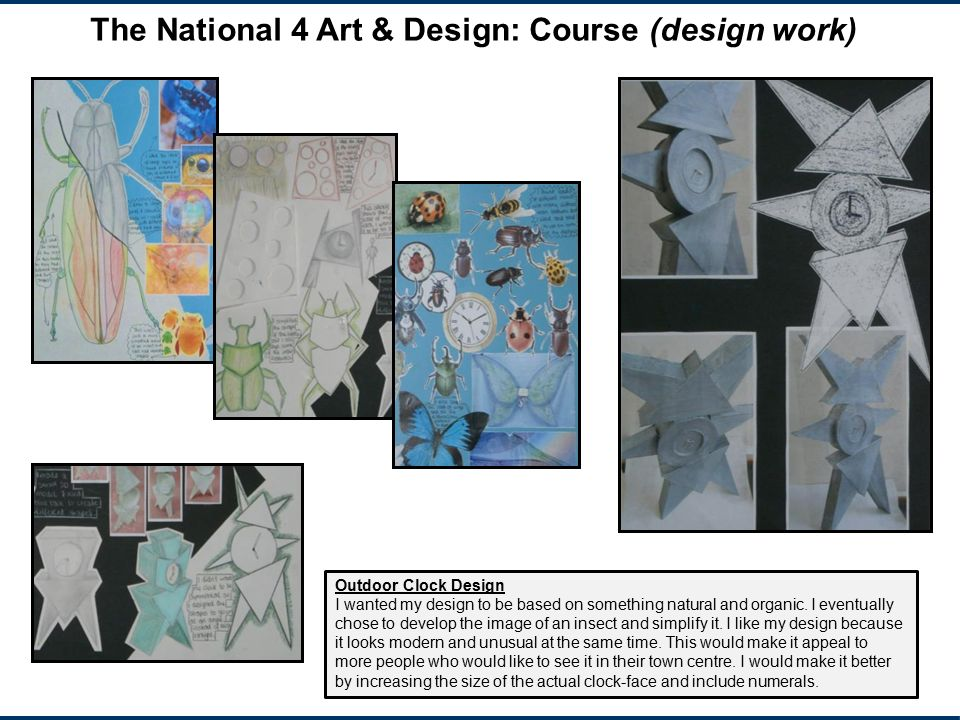 The National 4 Art & Design: Course (design work)