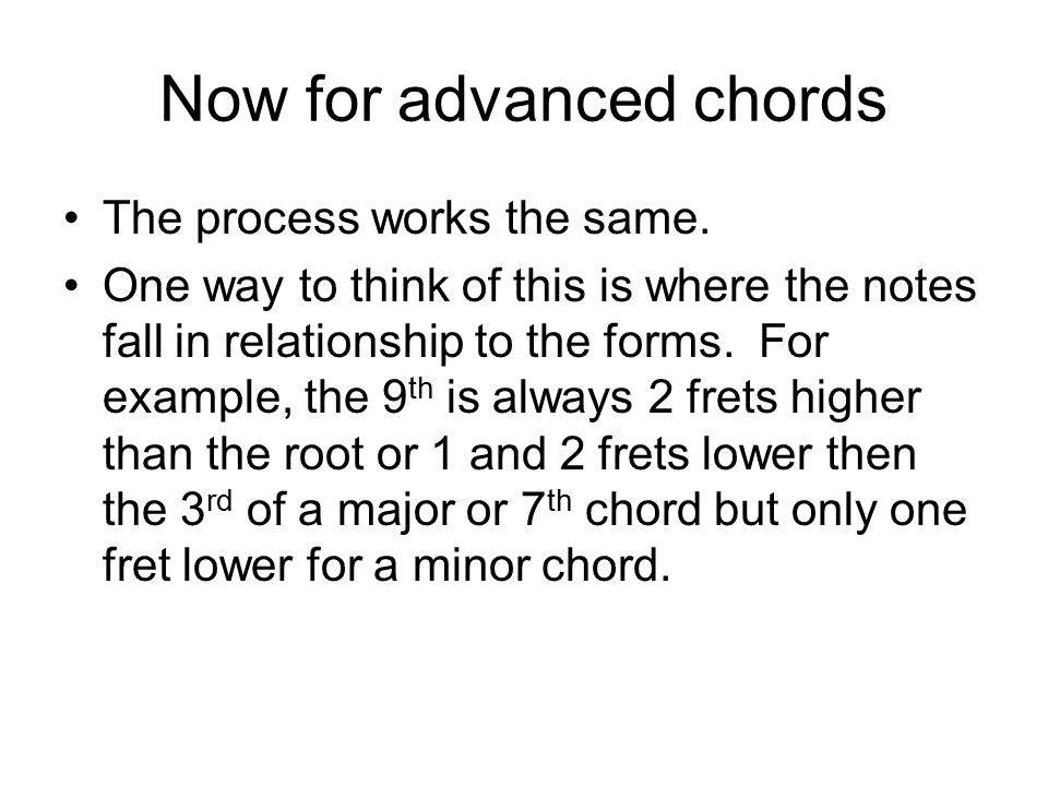 Chord And Scale Visualization And Patterns For The Guitar Ppt