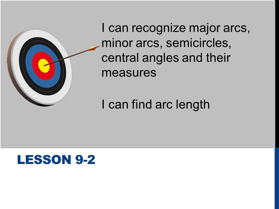 I Can Identify And Use Parts Of A Circle Ppt Download