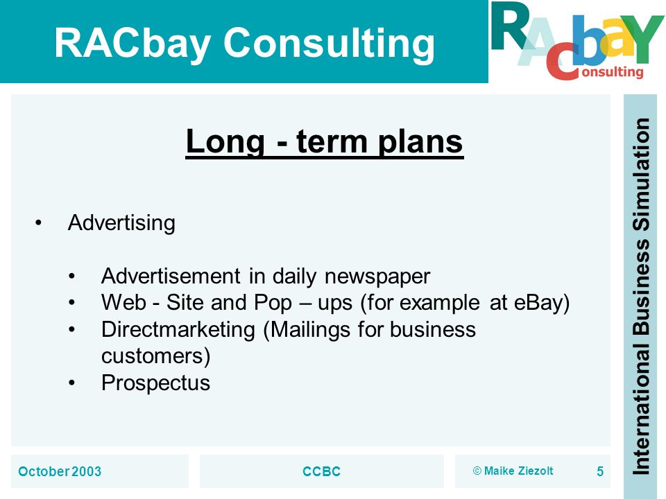 Marketing Department Tasks, plans and strategies October 2003 CCBC