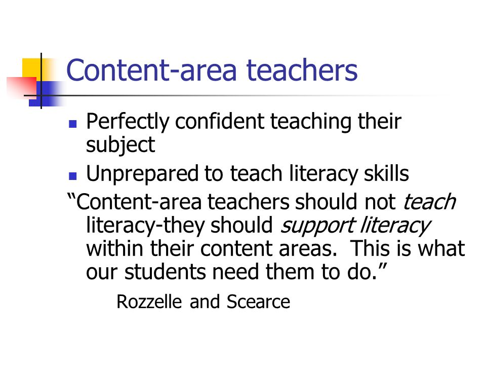 Content-area teachers