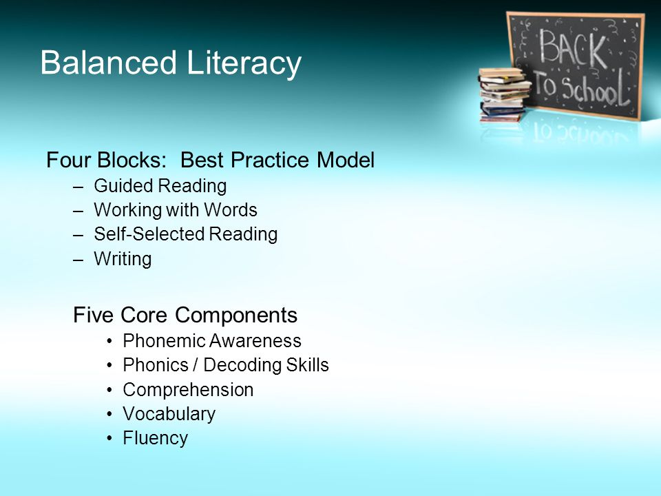 Balanced Literacy Four Blocks: Best Practice Model